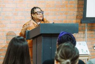 Jovida Hill presenting at Road to Run